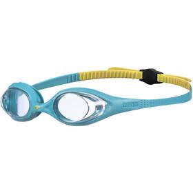 arena Spider Okulary pływackie Dzieci, turkusowy/żółty